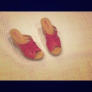 Korks platform wedge sandal, size 8